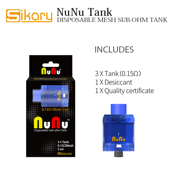 Sikary  OG(NuNu) Tank – DISPOSABLE MESH SUB-OHM TANK